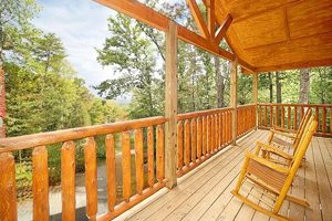 Pigeon Forge Cabin Deck With Rocker